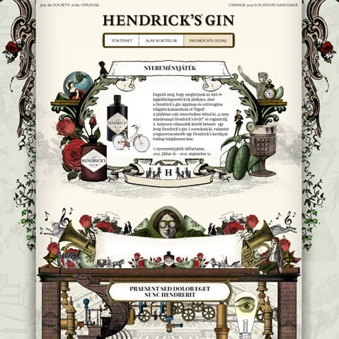 Pentacom referencia - Hendricks's Gin, Online marketing
