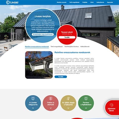 Pentacom referencia - Lindab, webfejlesztés