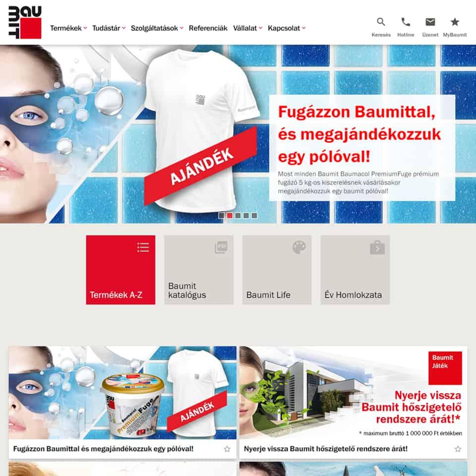 Pentacom referencia - Nemzetközi Baumit, webfejlesztés, online marketing